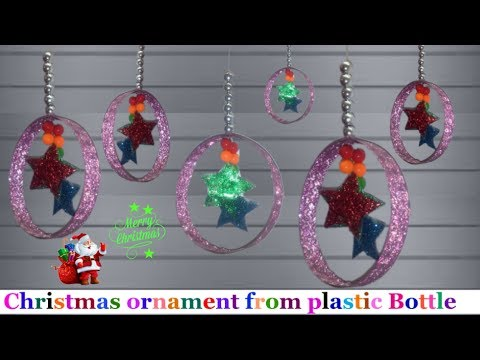 Handmade Christmas Ornaments from plastic Bottle/Christmas  decoration ideas | Christmas craft ideas