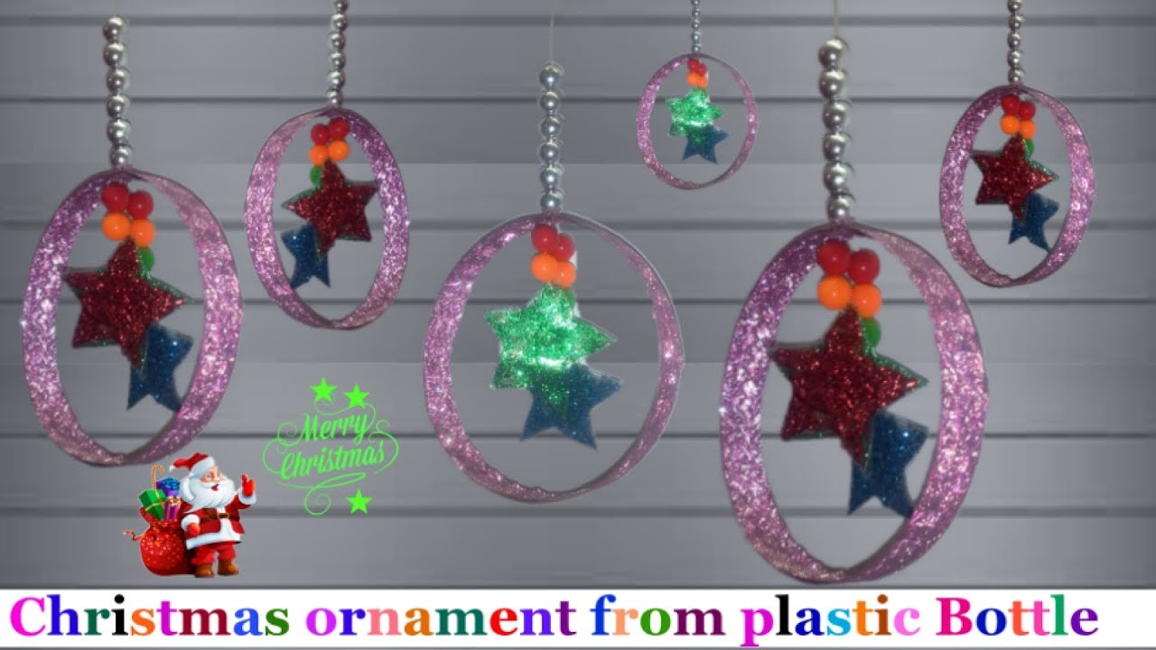 Handmade Christmas Ornaments From Plastic Decoration Ideas Craft With Crafts Bottles