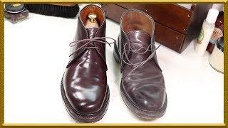 [ASMR] Clean & restore 'ALDEN' Cordovan chukka boots - VeTiVeR