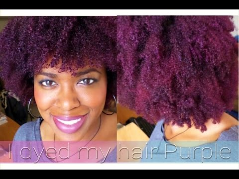 Natural Hair I Dyed My Hair Purple Youtube