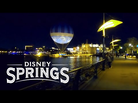 Disney Springs at Night 2019 Orlando Florida | Full Complete Walkthrough Tour