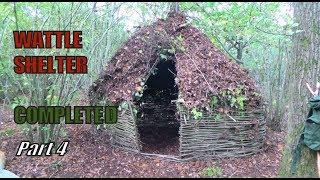 Bushcraft Wattle Shelter Part 4