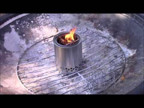 DIY biomass wood gasifier camp stove