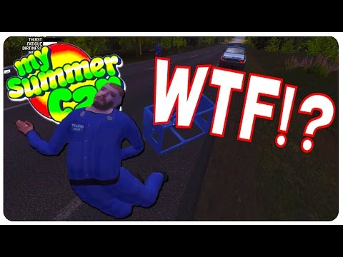 Drunk and Disorderly Cops Battle - My Summer Car Gameplay | Funny Moments #9