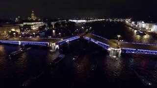Звуковое шоу 'Поющие мосты' в Санкт Петербурге вместе с DALEX-VIP(Аренда яхты, катера на звуковое шоу