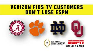 Disney to FiOS customers: Don't lose ESPN