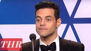 Oscar Winner Rami Malek Full Press Room Speech