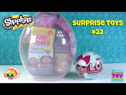 Shopkins Giant Surprise Egg #22 Opening Moana LOL Surprise Disney Lego | PSToyReviews