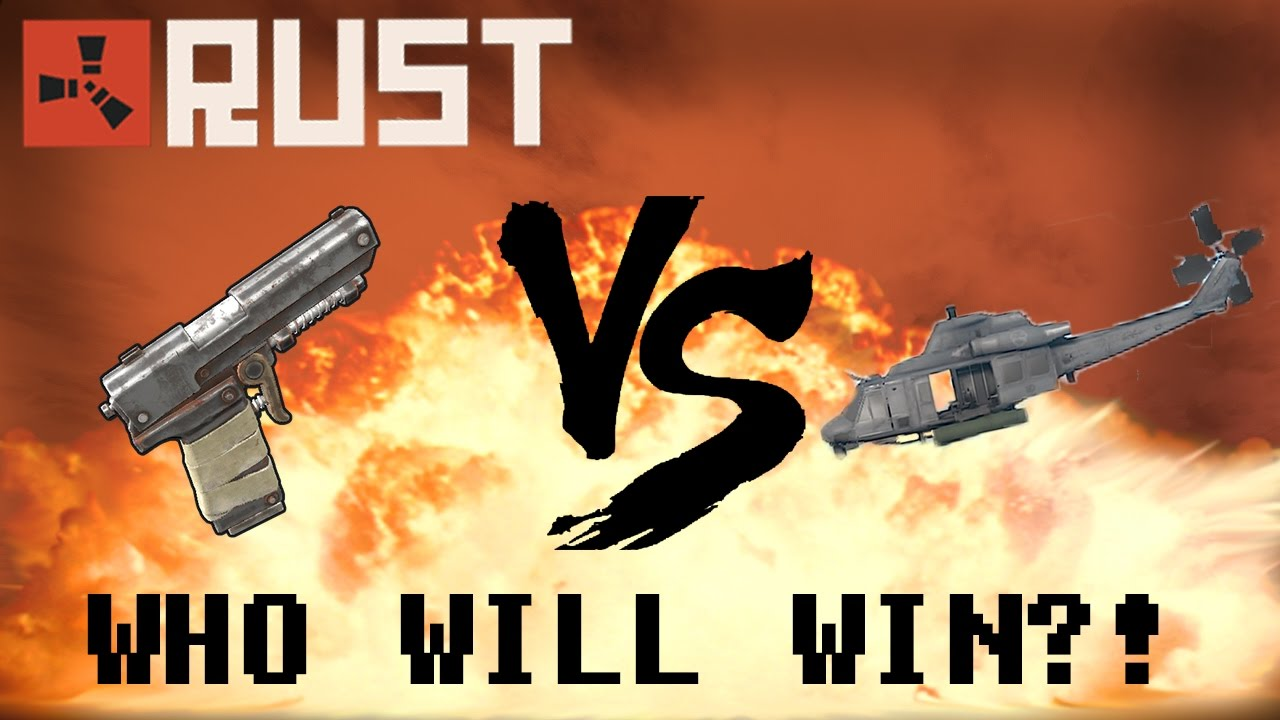Can You KILL an ATTACK HELICOPTER With: a SEMIAUTOPISTOL?! (RUST)