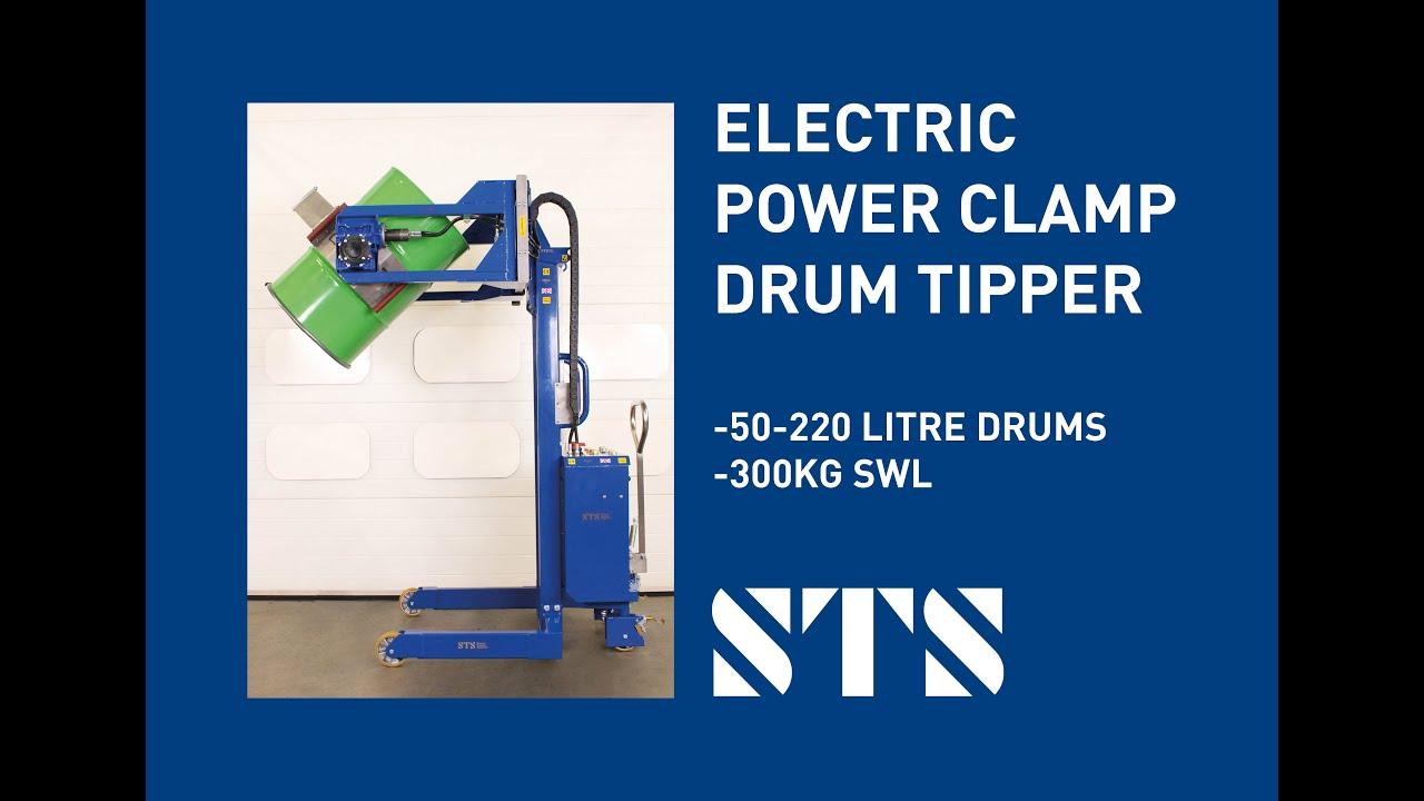 Electric Power Clamp Drum Tipper (STE01 RRH01) NEW DESIGN 2021