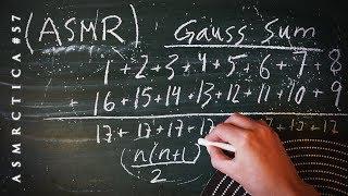 ASMR Math 1hr Calculating How Many Dots Pt 2 | Gauss Sum | Soft Spoken