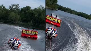 Tubing on the Super Mable towable