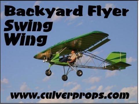Backyard Flyer Ultralight backyard flyer swing wing, part 103 legal ultralight aircraft from