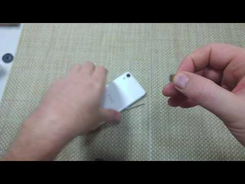 HTC Desire 626 How to remove and replace SIM Card and Memory Card
