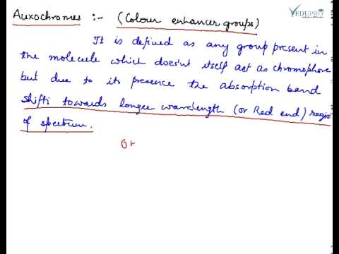 Auxochromes, Auxochromes Definition