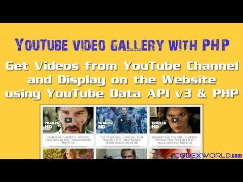 Get Videos from YouTube Channel using Data API v3 and PHP