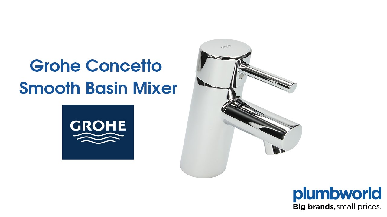 Grohe Concetto Smooth Basin Mixer - Plumbworld - YouTube