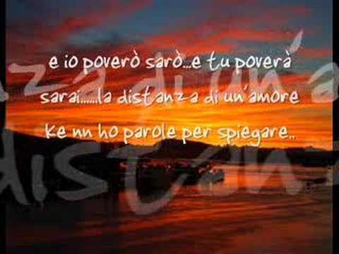 Alex Baroni-La Distanza Di Un Amore