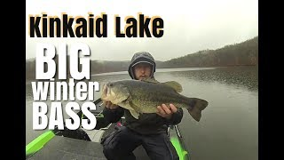 Big Winter Bass on Kinkaid Lake in December