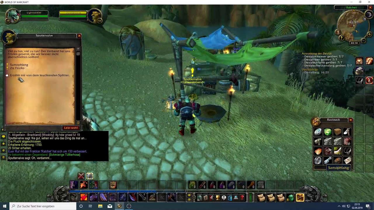 Der Leuchtende Splitter Quest Gm Wolf World Of Warcraft Classic Hd Youtube
