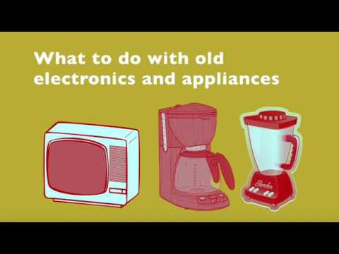 What to do with old electronics and appliances