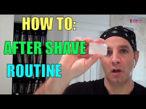 HOW TO AFTER SHAVE ROUTINE SHAVING TUTORIAL by Geofatboy ShaveNation.com Alum Block Stick