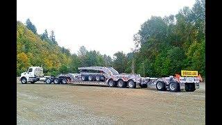 Cozad Lowboy Trailer - Custom 8-axle with power tower