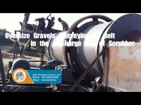 RXT Gearwheel type Rotary Scrubber Beneficiate Black Gold Sand Ore Dressing at the Western Africa