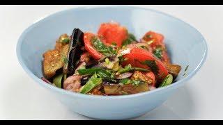 Салат из помидоров и жареных баклажанов | Банкет. Фуршет. Недорого