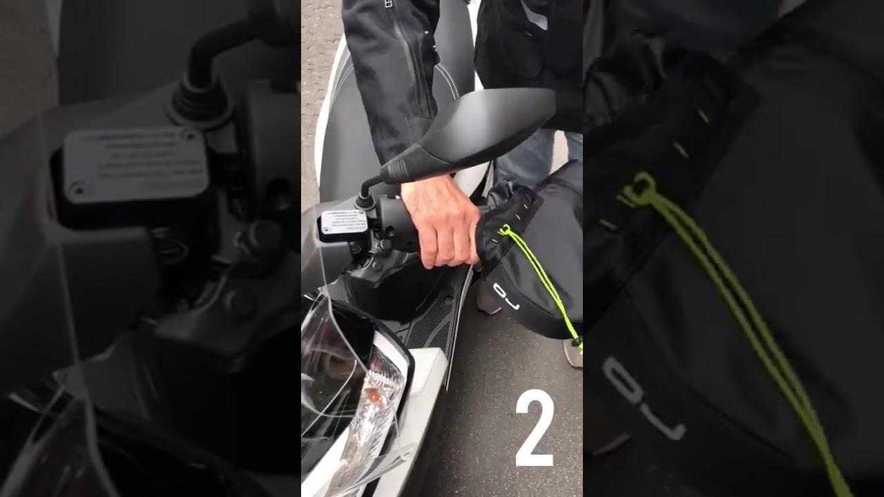COPRIMANOPOLE FELPATO TERMICO IN NEOPRENE OJ C010 MANOPOLE PER MOTO SCOOTER UNIVERSALE MINI PRO HAND IMBOTTITO