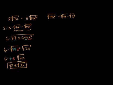 Simplifying square-root expressions | Mathematics I | High School Math | Khan Academy