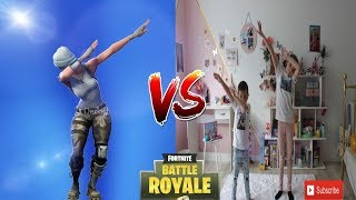 DANSE FORTNITE VS REALITY !!!! on rigole, on s 'amuse 😋