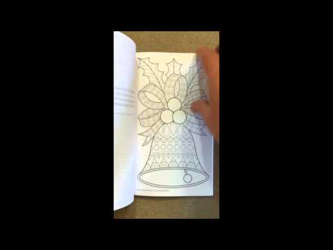Color Christmas Coloring Book Perfectly Portable Pages On The Go Flip Through