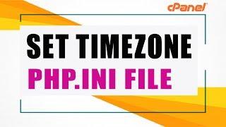changeset default server timezone phpini file
