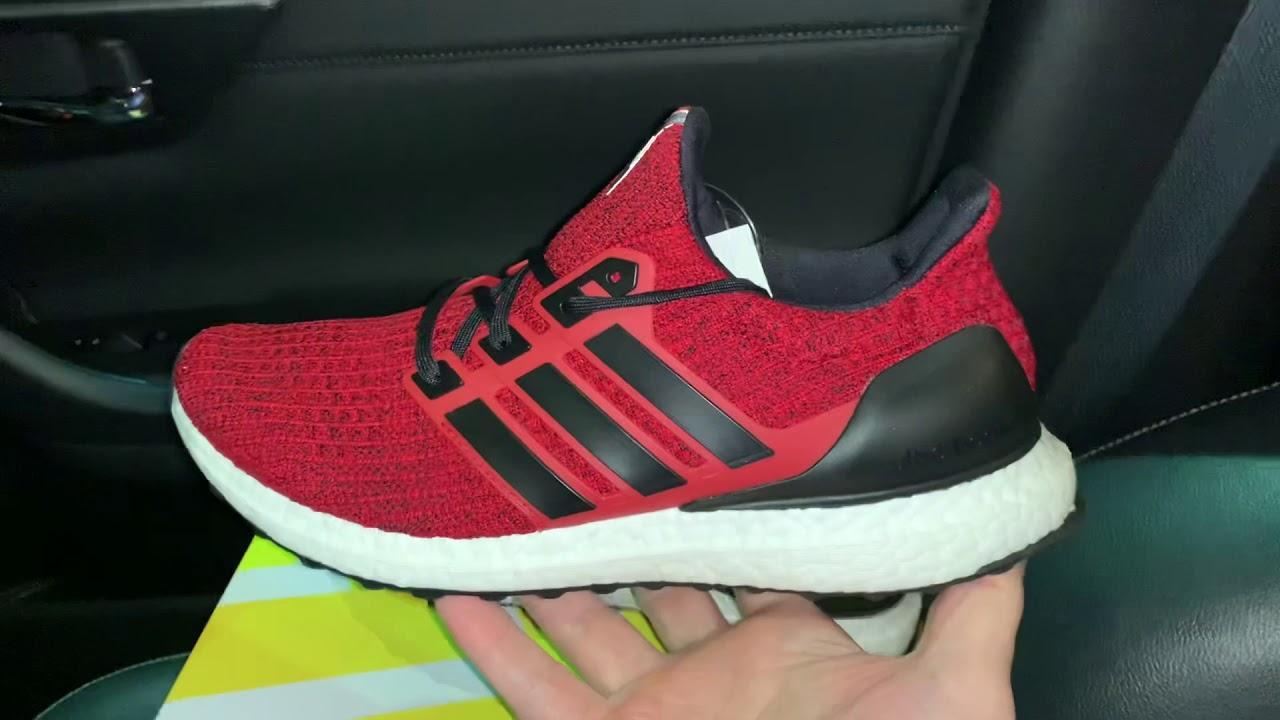 Adidas UltraBoost 4.0 Red Black running