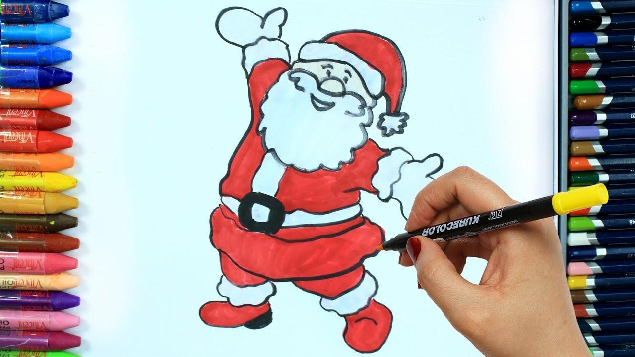 Noel Baba Nasıl çizilir Boya Boya çizelim Boyayalım