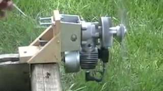 Converted Ryobi 31cc weed eater engine.mp4
