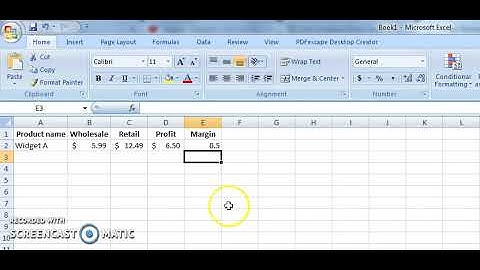 How to Calculate Profit Margin With a Simple Formula in Excel