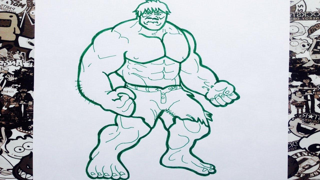 Hulk Dibujos Para Colorear: Como Dibujar A Hulk