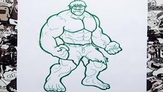 Como dibujar a hulk | how to draw hulk | como desenhar o hulk