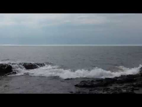 40 min Ocean Waves, Rocky Coast on the Atlantic Ocean