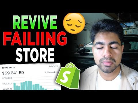 How To QUICKLY Revive A Dying Shopify Dropshipping Store thumbnail