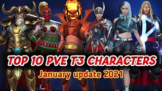 TOP 10 PVE T3 CHARACTERS Marve…