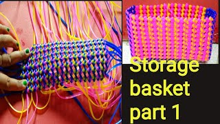 Plastic wire storage basket base full clear vedio/part-1/plastic wire craft ideas/Shoba handcrafts