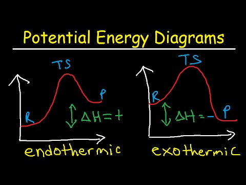 Potential Energy Diagrams - Chemistry - Catalyst, Endothermic & Exothermic Reactions