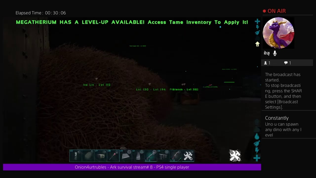 Ark survival - Stream # 8 ps4 single player base upgrade and breeding