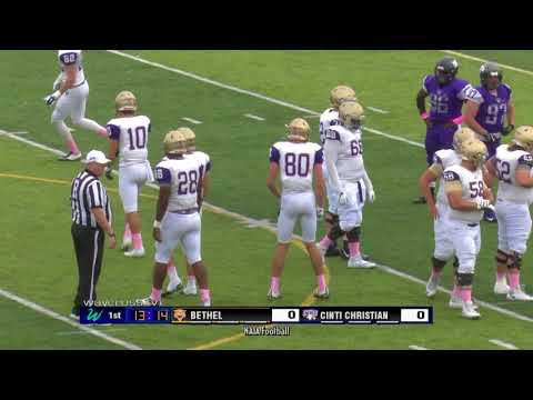 Cincinnati Christian University vs Bethel College Football Game of October 21, 2017
