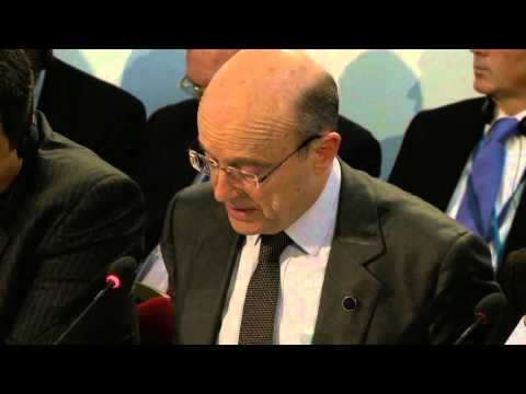 London Conference on Somalia: French Foreign Minister Alain Juppé