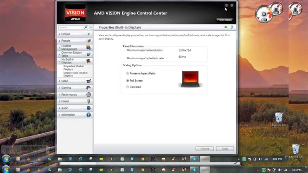 How to Play game in full screen with AMD vision, Radeon