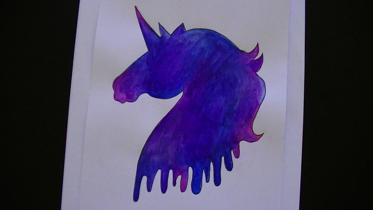 Como Dibujar/pintar Un Unicornio Galaxia
